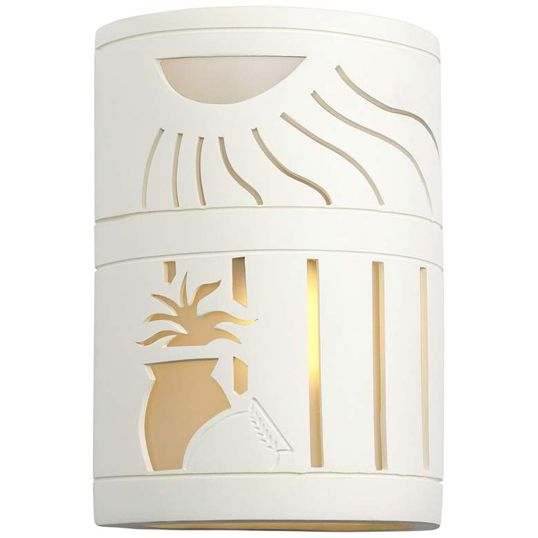 """Asavva 10 1/2""""H Paintable White Bisque Outdoor Wall Light"""