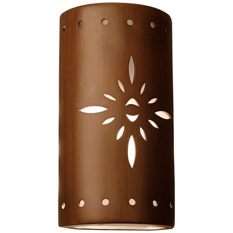 "Asavva 17"" High Rubbed Copper Ceramic Outdoor Wall Light"