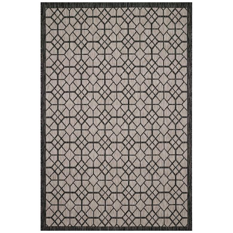 "Loloi Isle IE-06 5'3""x7'7"" Gray and Charcoal Area Rug"