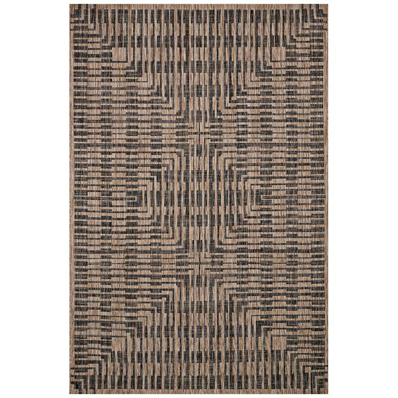 "Loloi Isle IE-09 5'3""x7'7"" Brown and Black Area Rug"
