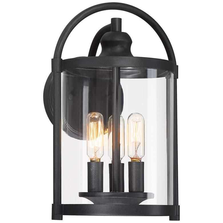 "Avani 13"" High Black Outdoor Wall Light"