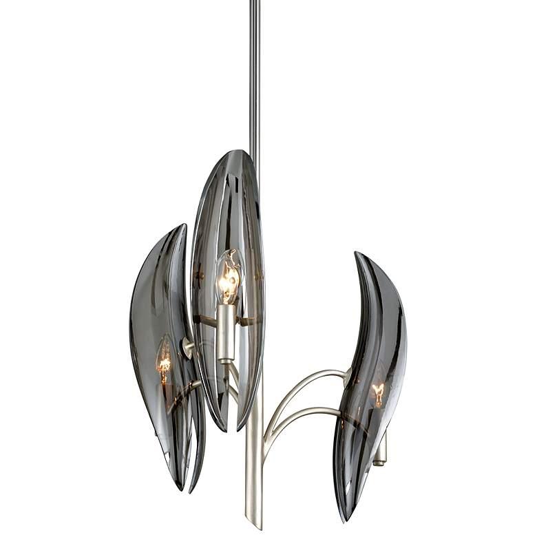 """Corbett Sofia 16 1/2"""" Wide Silver Leaf 3-Light Chandelier"""