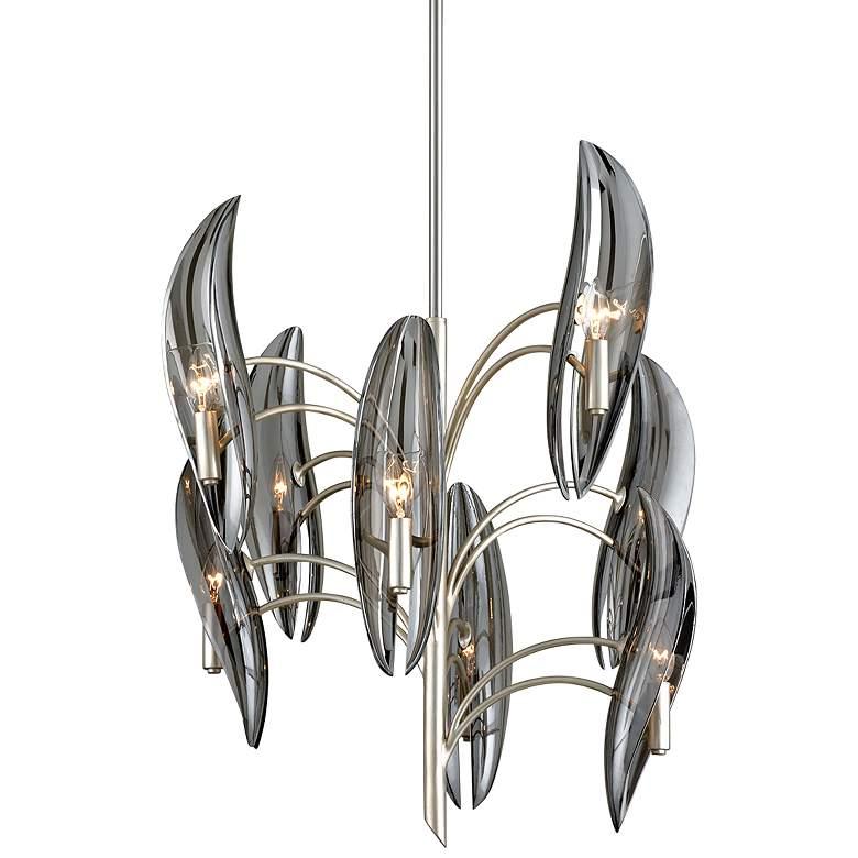"""Corbett Sofia 27"""" Wide Silver Leaf 8-Light Chandelier"""