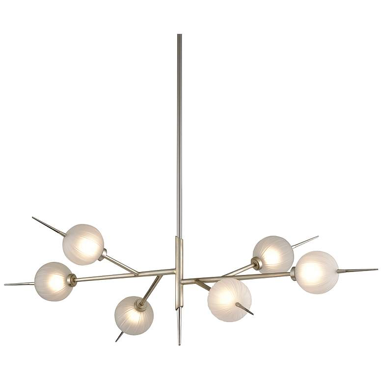 "Tempest 24""W Silver Leaf LED Kitchen Island Light Pendant"