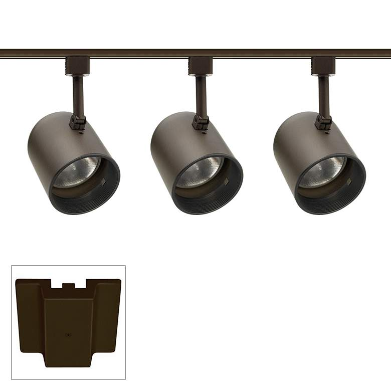 Juno 3-Light Round Back Bronze Floating Canopy Track