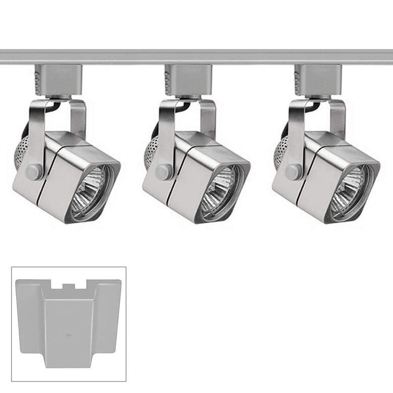Trac-Lites 3-Light Chrome Cube Floating Canopy Track Kit