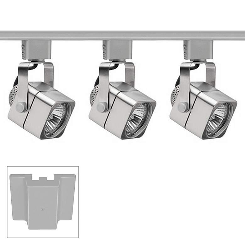 Trac-Lites 3-Light Chrome Cube Floating Canopy Track Kit
