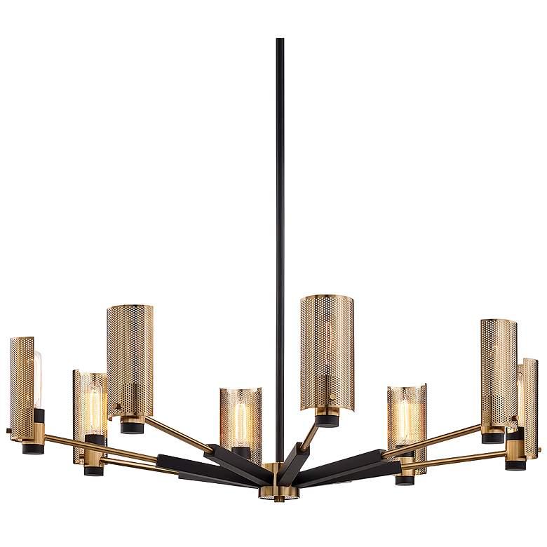 """Pilsen 40""""W Modern Bronze and Aged Brass 8-Light Chandelier"""