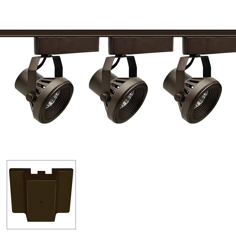 Trac-Lites 3-Light Bronze Funnel Floating Canopy Track Kit