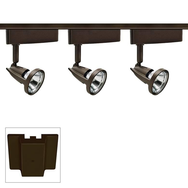 Trac-Lites 3-Light Bronze Odyssey Floating Canopy Track Kit