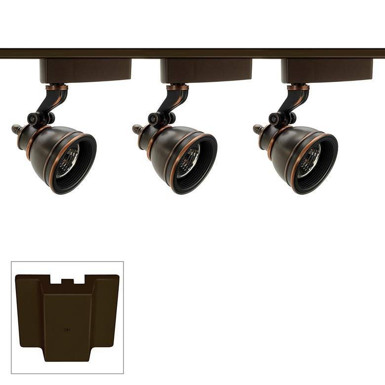 Trac-Lites 3-Light Bronze MR16 Floating Canopy Track Kit