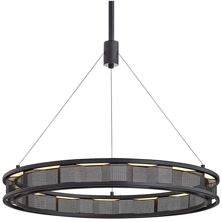 "Fuze 29"" Wide Modern Bronze LED Pendant Light"