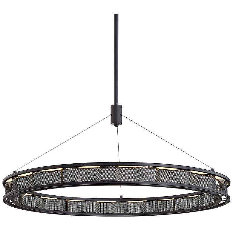 "Fuze 39"" Wide Modern Bronze LED Pendant Light"