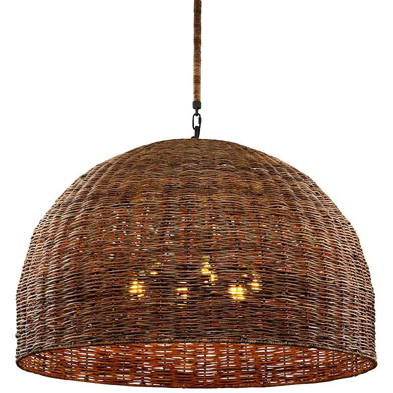 "Huxley 43 3/4"" Wide Tidepool Bronze LED Basket Pendant Light"