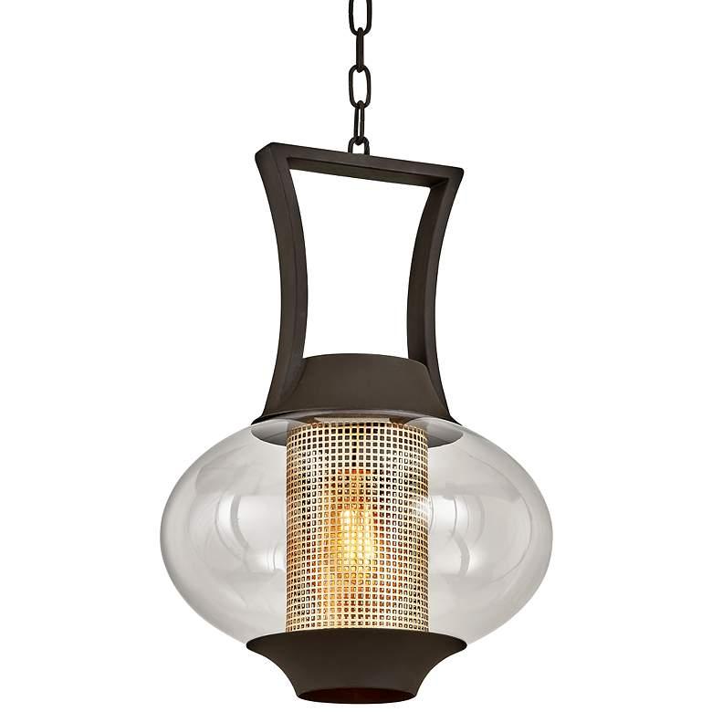 "Horton 23 1/4"" High Texture Bronze Outdoor Hanging Light"