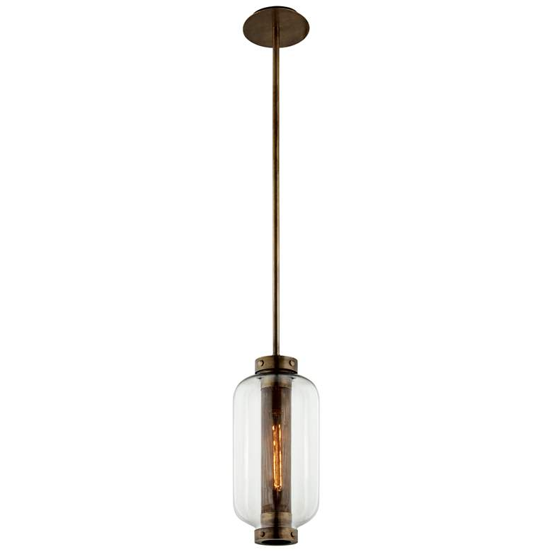 """Atwater 19 1/2"""" High Vintage Brass Outdoor Hanging Light"""