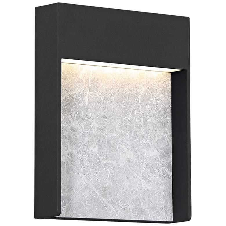 "Quoizel Tempest 9 1/4""H Asphalt Gray LED Outdoor Wall Light"
