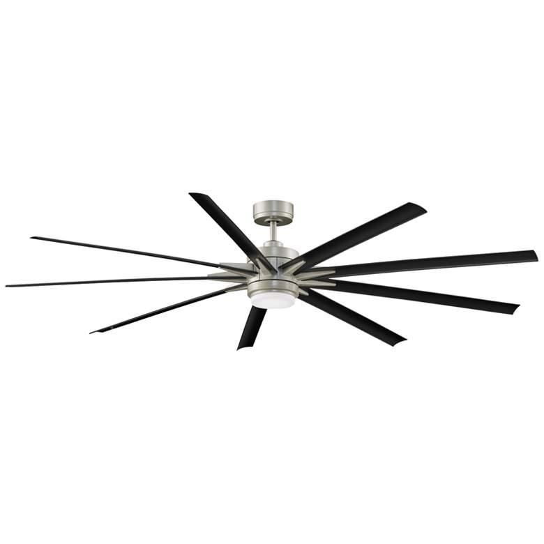"""84"""" Fanimation Odyn 84 Brushed Nickel LED Wet Ceiling Fan"""