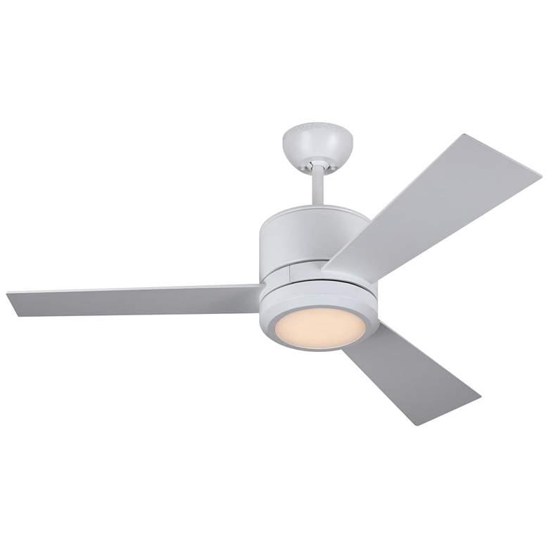 "42"" Monte Carlo Vision II Matte White LED Ceiling Fan"