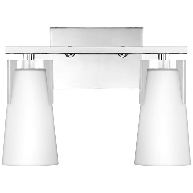 "Quoizel Miriam 9 3/4""H Polished Chrome 2-Light Wall Sconce"