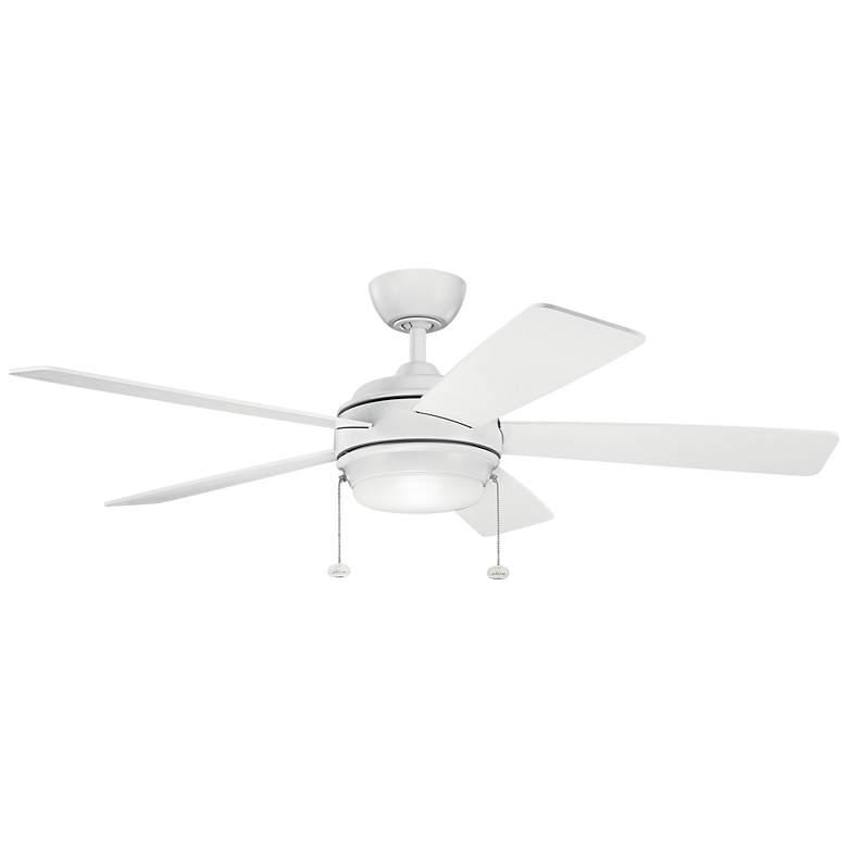 """52"""" Kichler Starkk Matte White LED Ceiling Fan"""