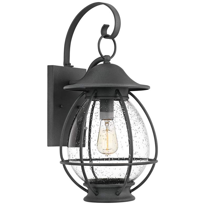 "Quoizel Boston 21 1/2"" High Mottled Black Outdoor Wall Light"