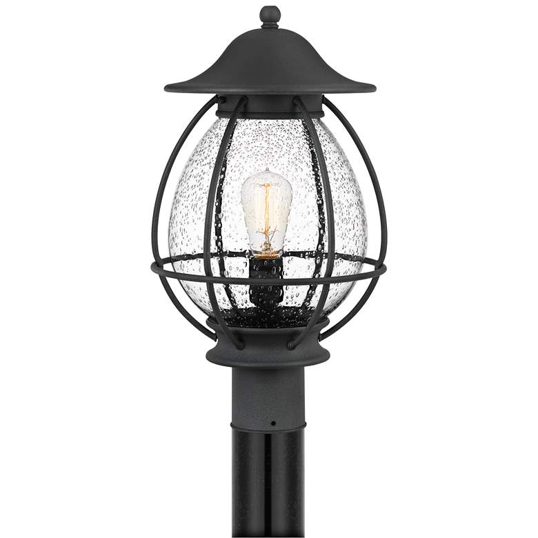 """Quoizel Boston 18 3/4"""" High Mottled Black Outdoor Post Light"""