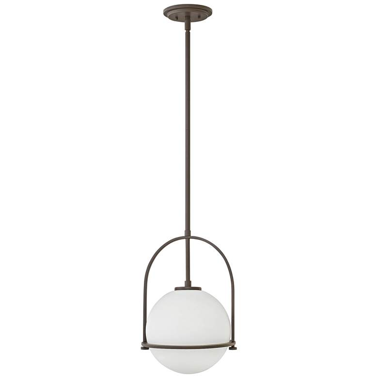 "Hinkley Somerset 11 1/2""W Buckeye Bronze Mini Pendant Light"