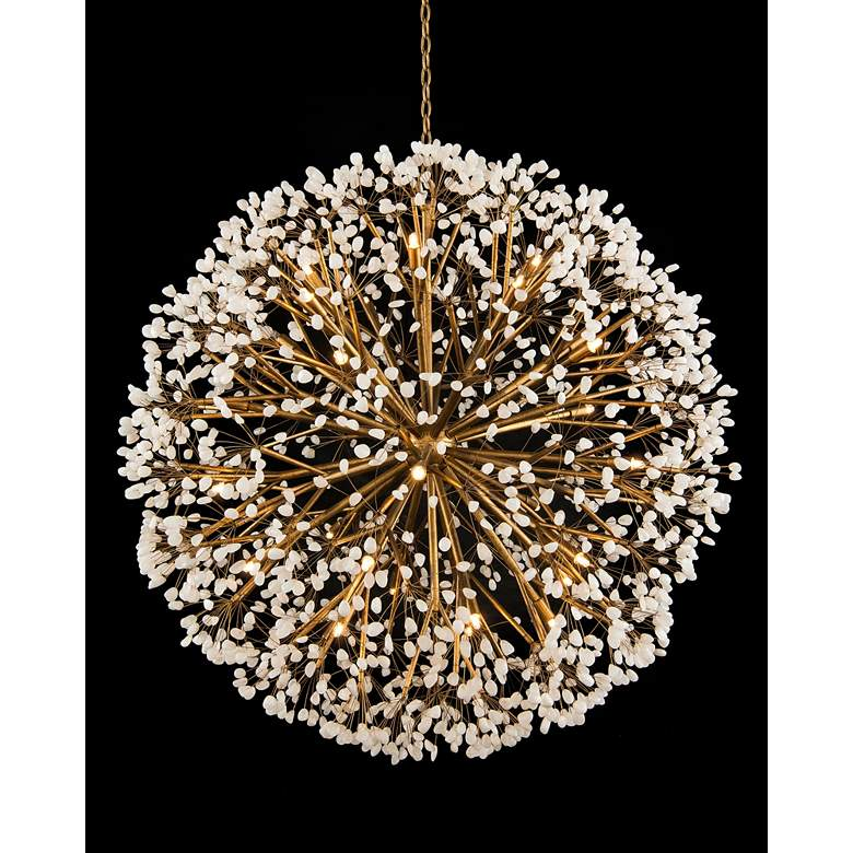 """John Richard Spherical 43 1/2"""" Wide Gold 30-Light Chandelier"""