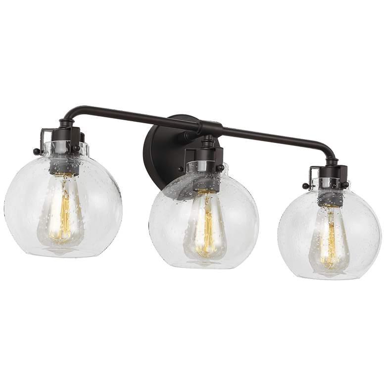 """Feiss Clara 24"""" Wide Oil-Rubbed Bronze 3-Light Bath Light"""