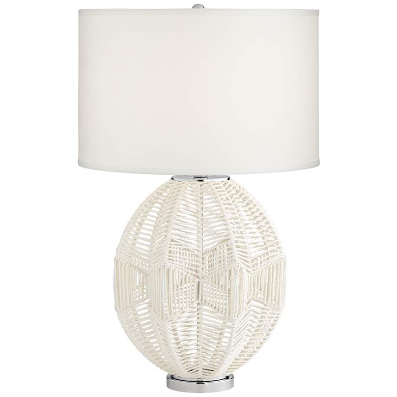 North Shore White String Basket Table Lamp