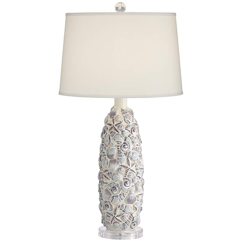 Sand Dollar Shells and Stars Ceramic Table Lamp