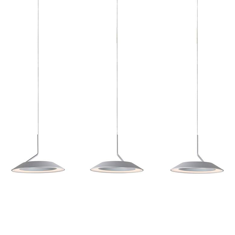 "Koncept Royyo 44"" Wide Silver 3-Light Linear Pendant"