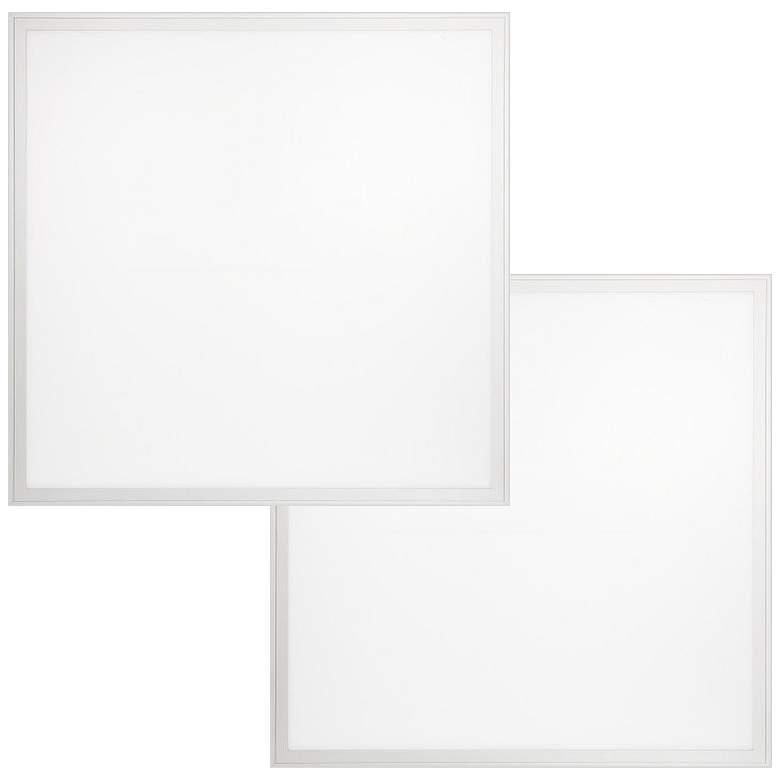 "24"" Square White 5000K LED Flat Panel Ceiling Light Set of 2"