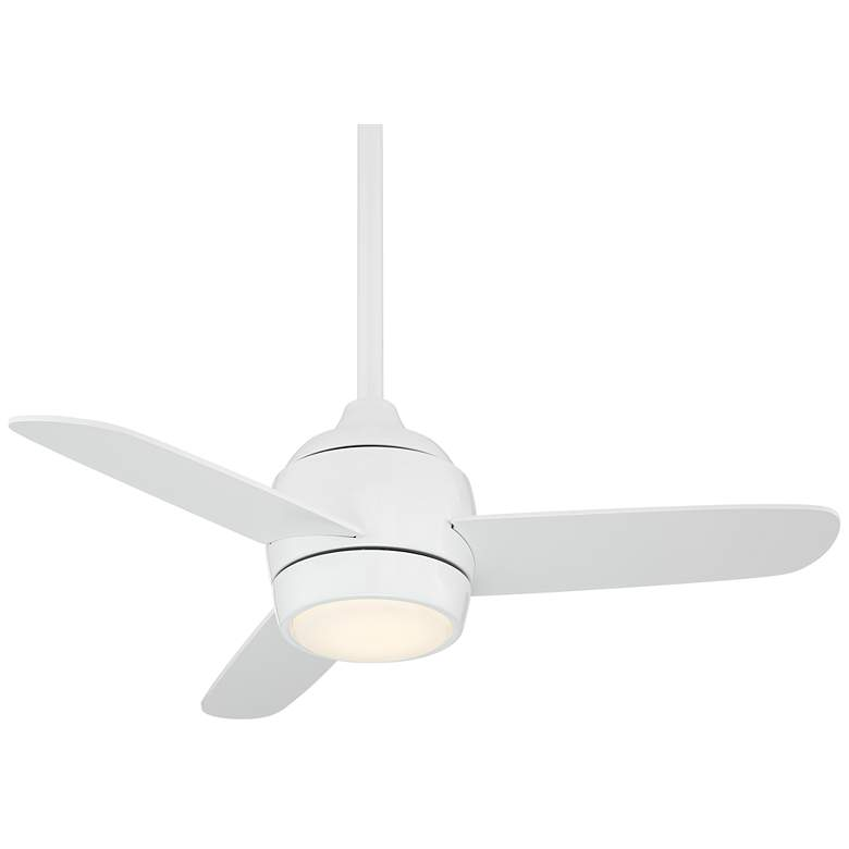 """36"""" Airbourne White Damp Rated LED Ceiling Fan"""