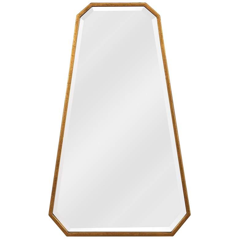 """Uttermost Ottone Gold Leaf 22"""" x 36"""" Octagon Wall Mirror"""