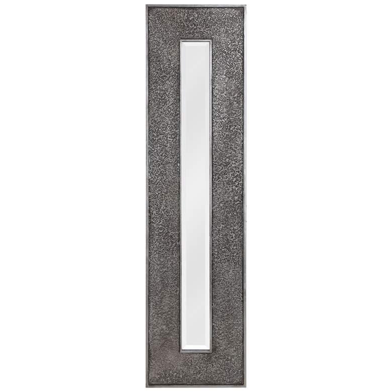 "Uttermost Bannon Metallic Silver Leaf 19"" x 73"" Wall Mirror"