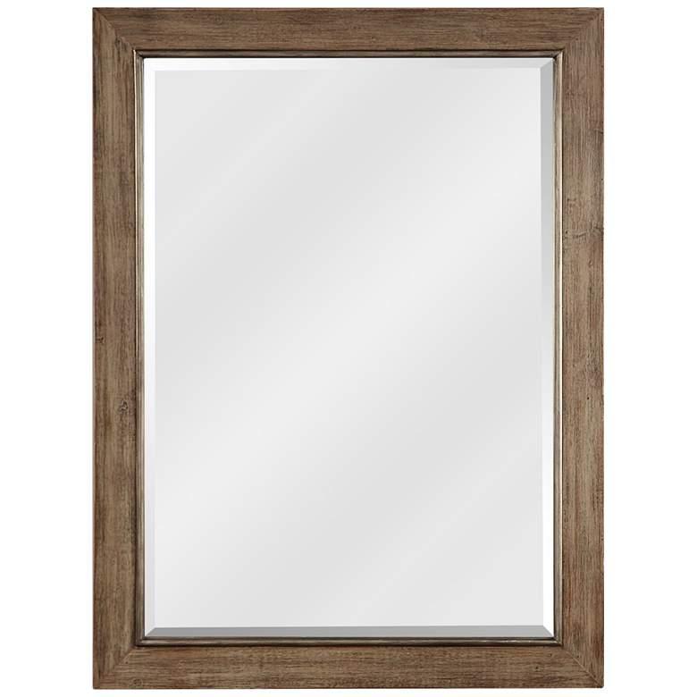 """Uttermost Walt Distressed Natural 36"""" x 48"""" Wall Mirror"""