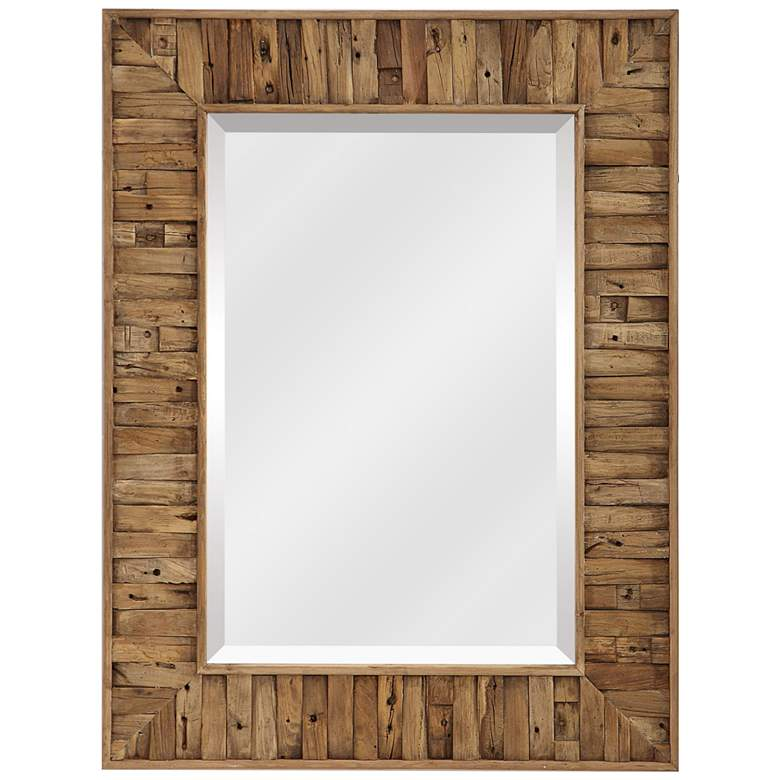 "Uttermost Nalani Natural Wood 37 1/2"" x 49 1/2"" Wall Mirror"