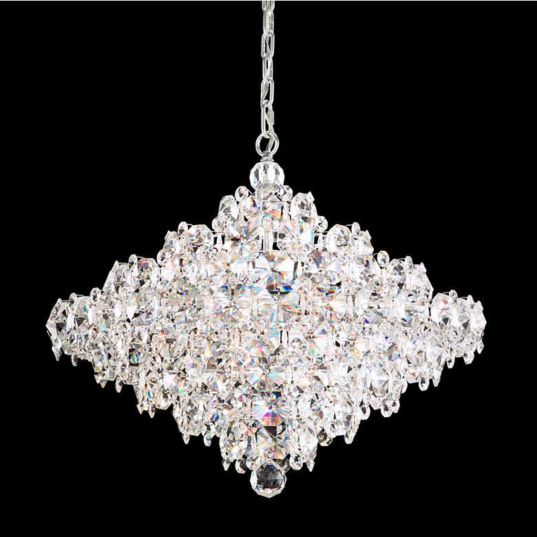 """Schonbek Baronet 24""""W Stainless Steel and Crystal Pendant"""