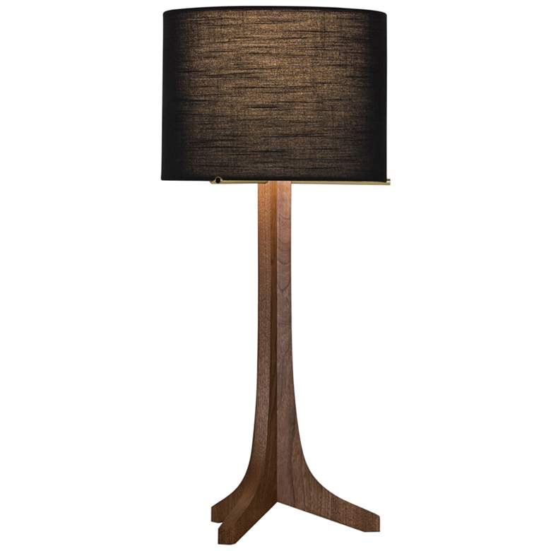 Cerno Nauta Walnut LED Table Lamp with Black Amaretto Shade