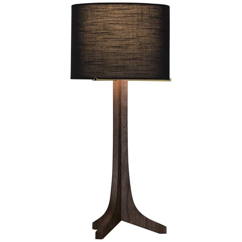 Nauta Stained Walnut LED Table Lamp w/ Black Amaretto Shade