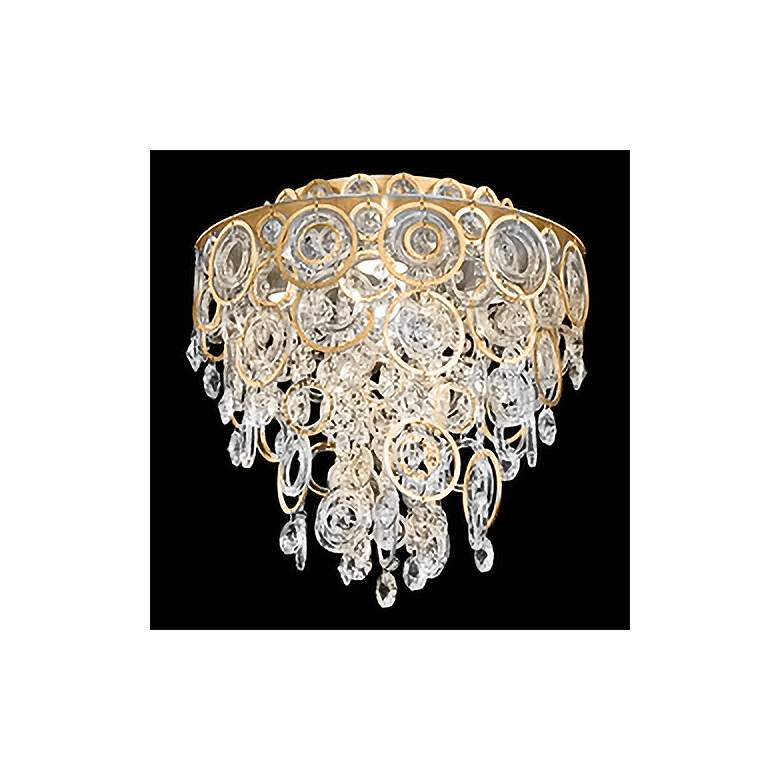 """Circulus 14"""" Wide Heirloom Gold and Crystal Ceiling Light"""