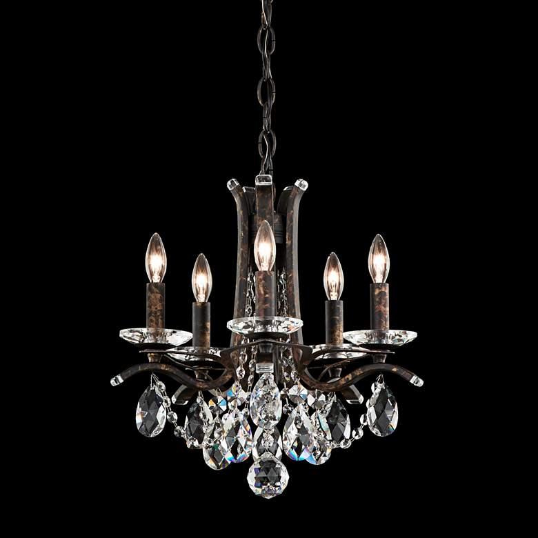 """Vesca 15""""W Heirloom Bronze and Crystal 5-Light Chandelier"""