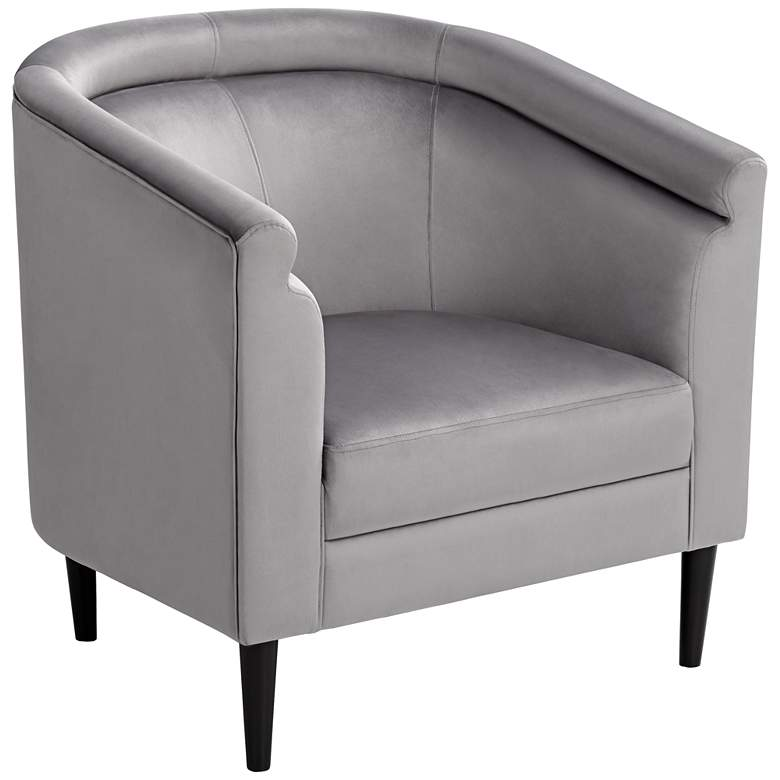 Admirable Jessica Gray Velvet Accent Chair Machost Co Dining Chair Design Ideas Machostcouk