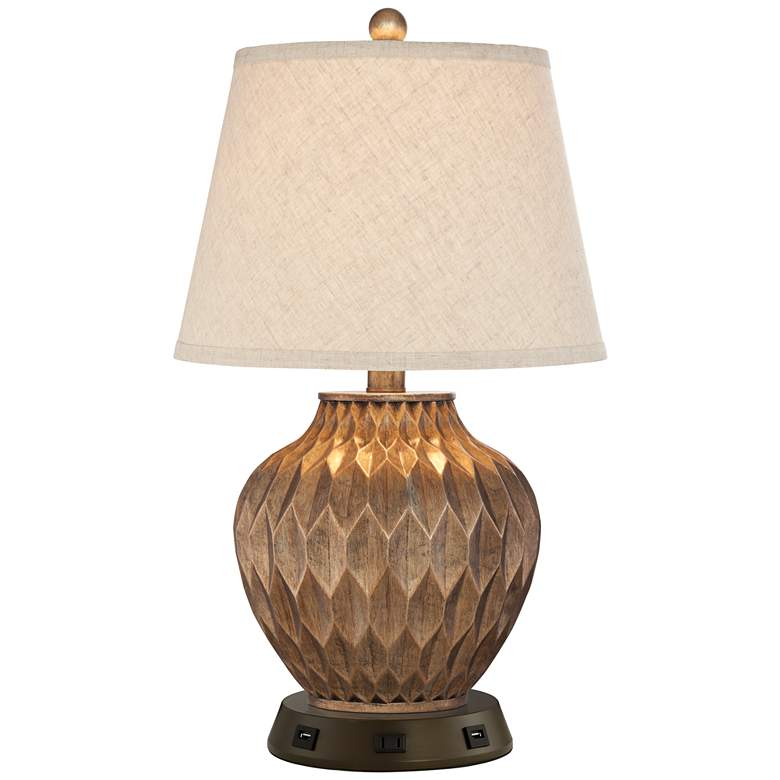 Buckhead Bronze Accent Table Lamp with USB Workstation