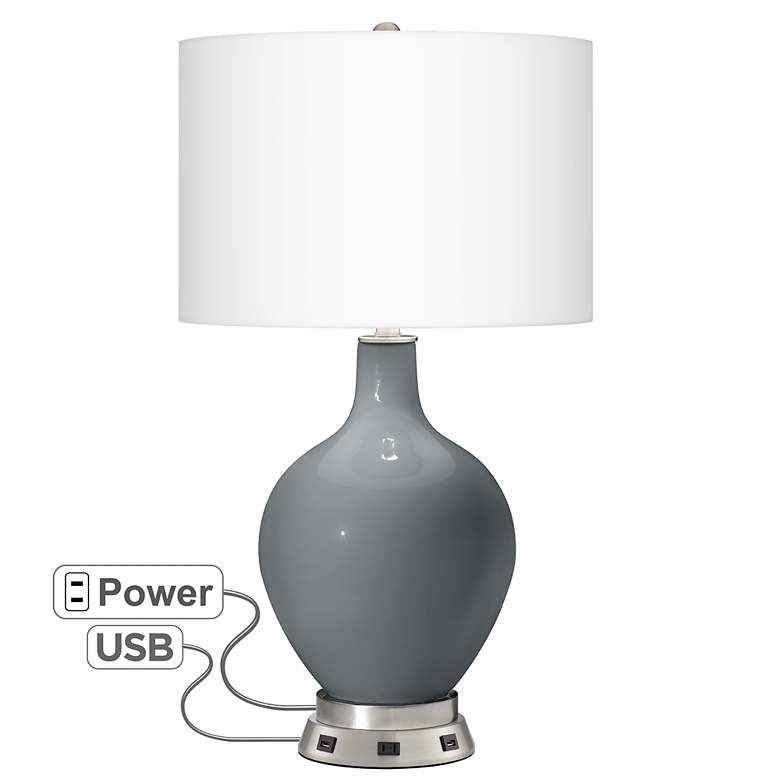 Software Ovo Table Lamp with USB Workstation Base