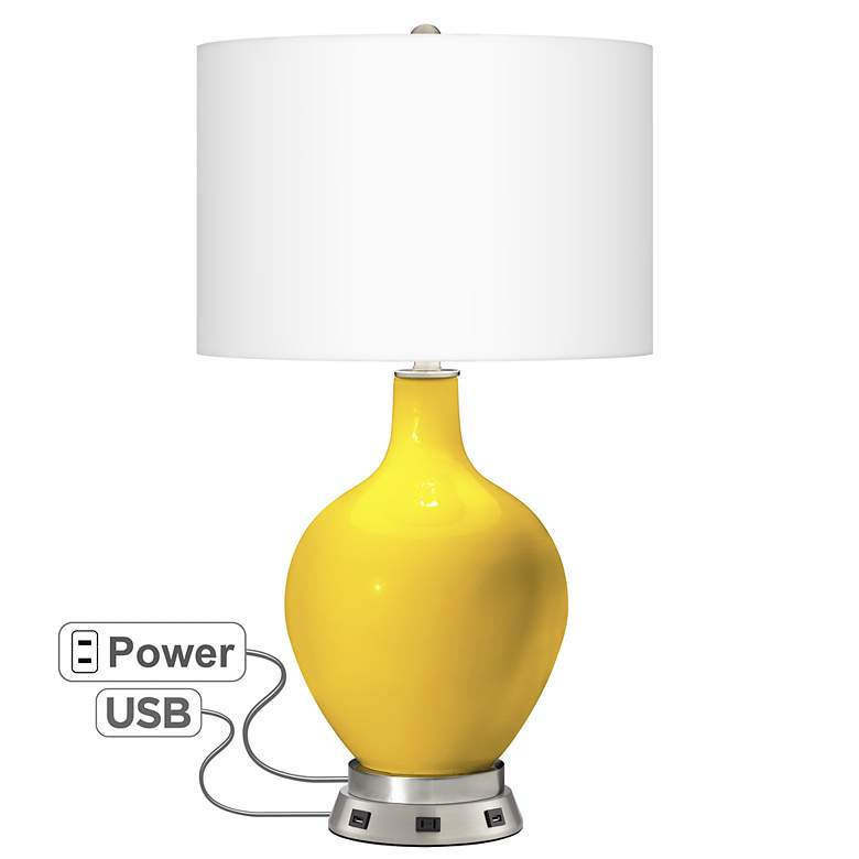 Citrus Ovo Table Lamp with USB Workstation Base