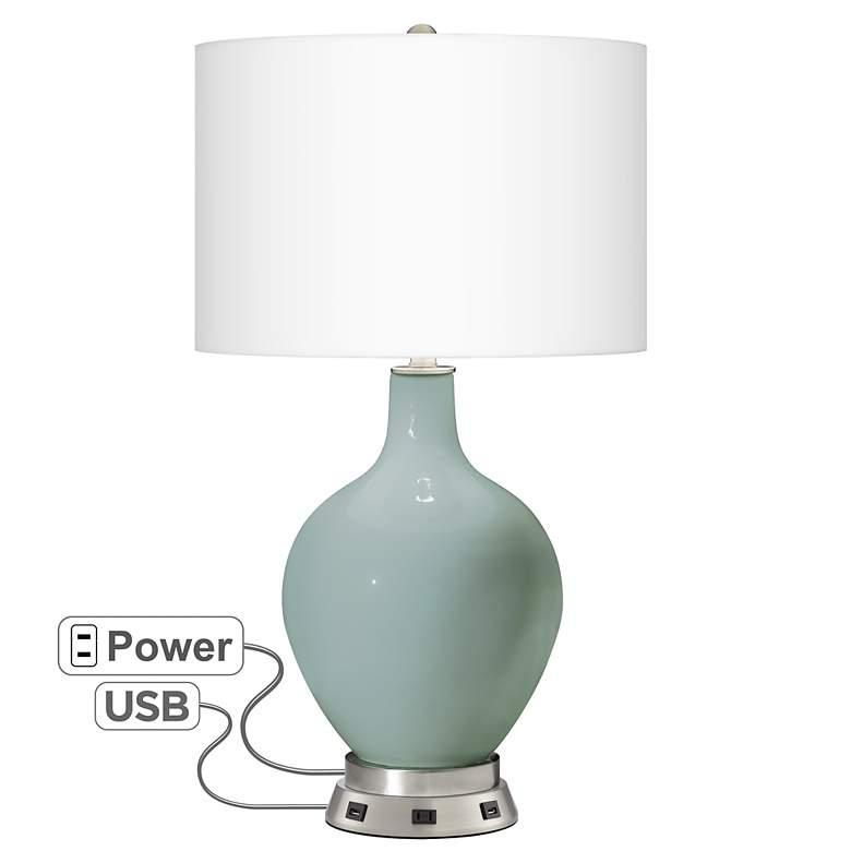 Aqua-Sphere Ovo Table Lamp with USB Workstation Base