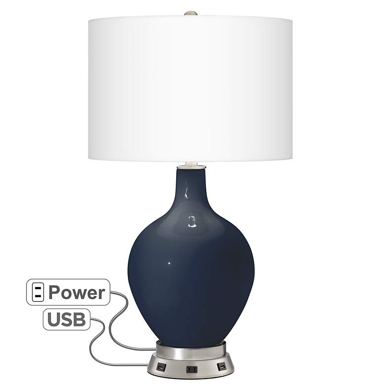 Naval Ovo Table Lamp with USB Workstation Base